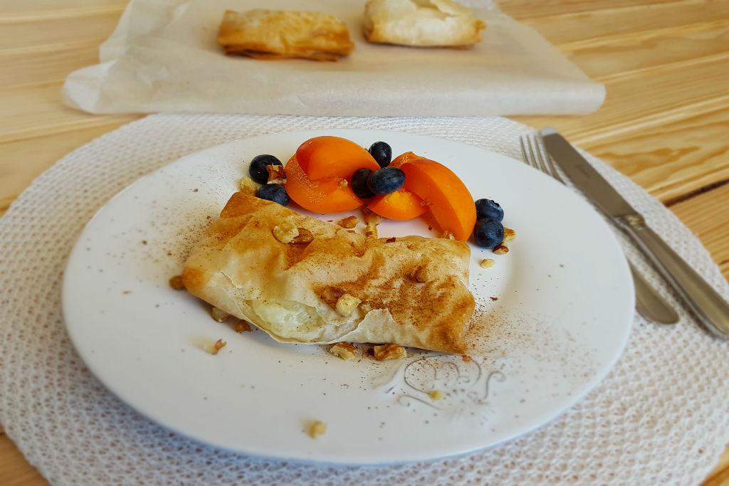 Tapioca crocante com fruta