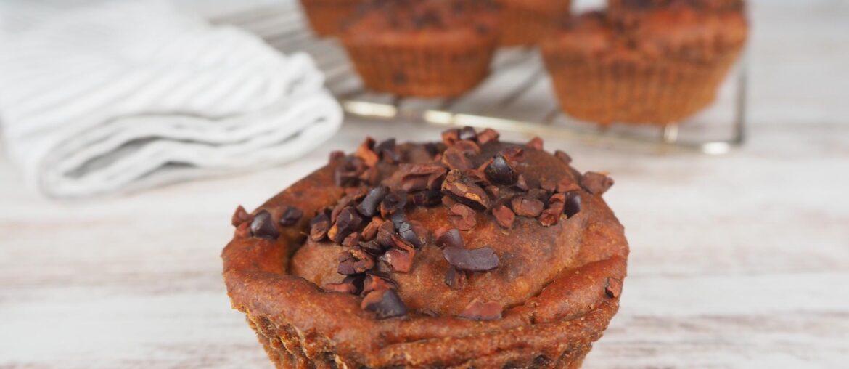 Muffins de casca de banana